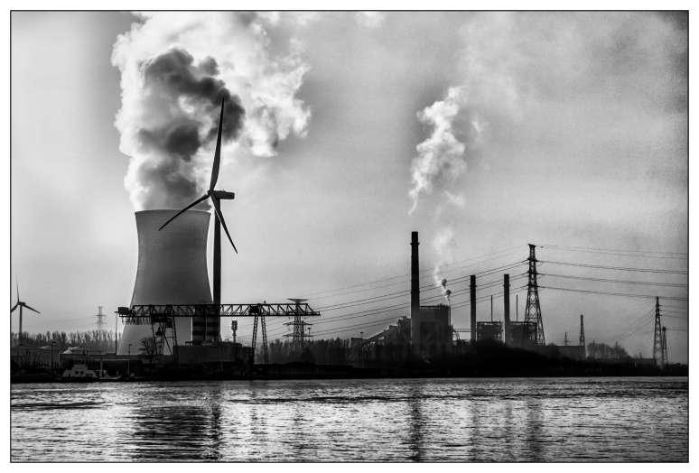 Koeltoren elektriciteitscentrale Rodenhuize