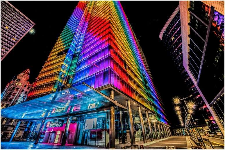 rainbow colors for Belgian Pride