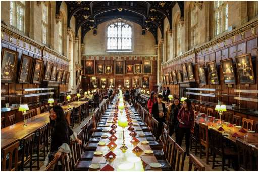 Christ church college - eetzaal Harry Potter